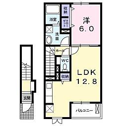フラワ−タウンフェイジョア[2階]の間取り