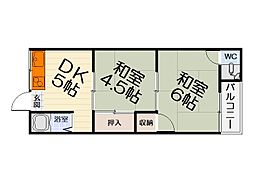 大阪府堺市西区鳳北町1丁の賃貸アパートの間取り