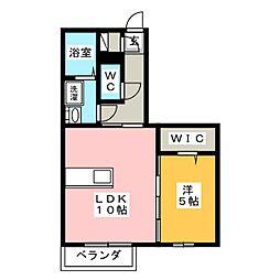 New Oak A棟[1階]の間取り