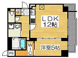 アトリエール堺新町[4階]の間取り