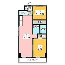 サンパール水城[5階]の間取り