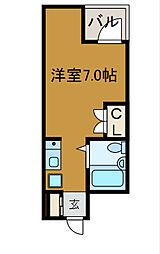 神奈川県川崎市麻生区上麻生1丁目の賃貸マンションの間取り