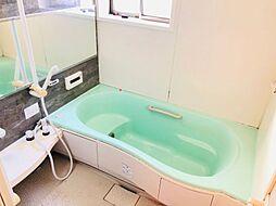浴室には手すりが付いているので、ご年配の方にも安心です。