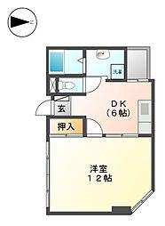 プレズ名古屋徳川[5階]の間取り