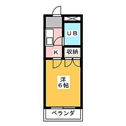 シンセア静岡[3階]の間取り