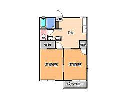 シャインハイツ III[2階]の間取り