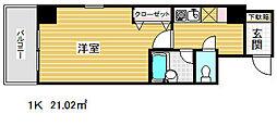 エスリード三宮フラワーロード[8階]の間取り