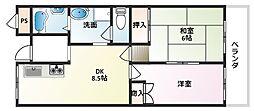 サンシャインキタニ[3階]の間取り