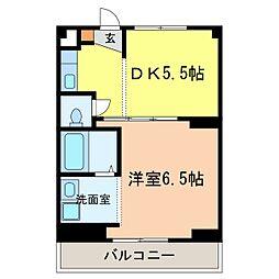 ヴィラナリー富田林4号棟[1階]の間取り