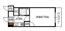 広島県広島市佐伯区五日市5丁目の賃貸マンションの間取り
