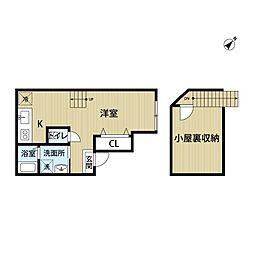 リラ清川[3階]の間取り