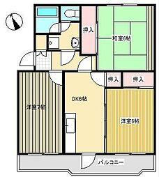ライオンズマンション習志野2号棟[3階]の間取り
