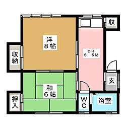 相馬荘5号棟[2階]の間取り