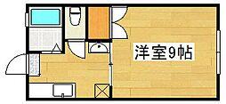 稲富ハイツI[1階]の間取り