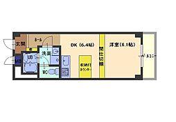 阪神本線 御影駅 4階建[102号室]の間取り