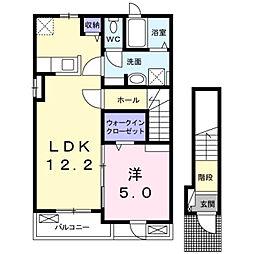エクセレントII[2階]の間取り