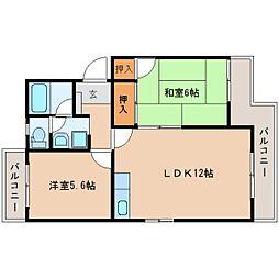 静岡県静岡市清水区下野東の賃貸マンションの間取り