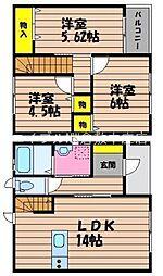 [タウンハウス] 岡山県倉敷市玉島長尾 の賃貸【岡山県 / 倉敷市】の間取り