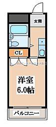 OMレジデンス八戸ノ里[2階]の間取り