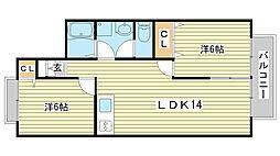OA FLAT東南[B202号室]の間取り
