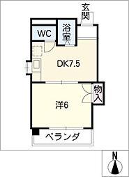 ベルメゾン太田[5階]の間取り