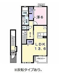 ヴィル TSS B棟[2階]の間取り