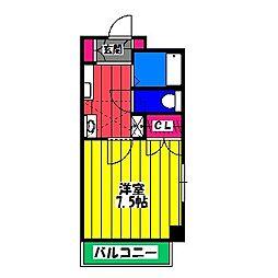 ネオ・ブライト那珂Ⅰ[1階]の間取り
