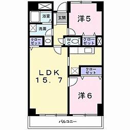 グレイスヒルズマンション[5階]の間取り