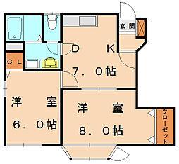 メゾン中央[1階]の間取り