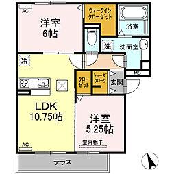 仮)D-room半田市大高町 A棟[105号室]の間取り
