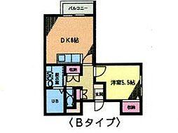 ジュネスSK B[2階]の間取り