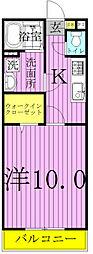 アムール長崎 I・II[2-204号室]の間取り