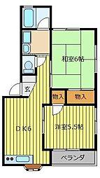 BAN RINCOME 2[2階]の間取り