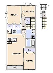 Maison en bois (メゾン オン ボア)[202号室]の間取り