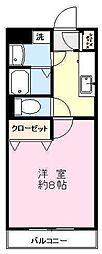 ポレール[2階]の間取り