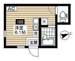 東京都板橋区桜川2丁目の賃貸アパートの間取り