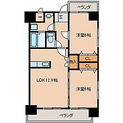 Konami Village(コナミビレッジ)[101号室]の間取り