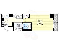 京都地下鉄東西線 太秦天神川駅 バス9分 梅津段町下車 徒歩2分の賃貸マンション 4階1Kの間取り