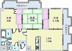 レジデンス桜の町[301号室]の間取り