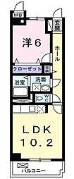 神奈川県大和市つきみ野1丁目の賃貸マンションの間取り