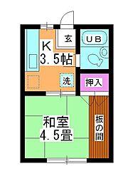 第2坂上荘[2-C号室]の間取り