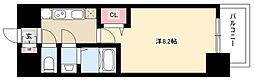 プレサンス丸の内アデル 13階1Kの間取り