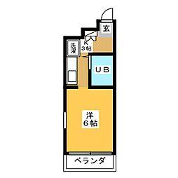 グランデ島田橋[5階]の間取り