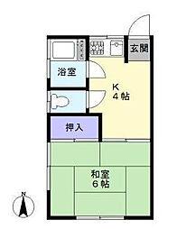 東京都板橋区大谷口上町の賃貸アパートの間取り