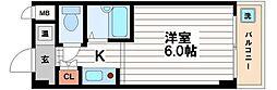ドミール堺筋本町[2階]の間取り