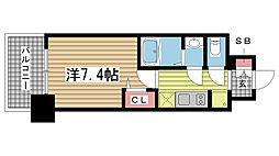 エスライズ神戸三宮山手通弐番館 15階1Kの間取り