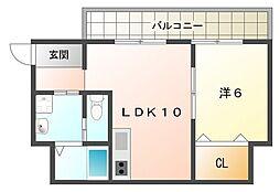 第一オカビル[3階]の間取り
