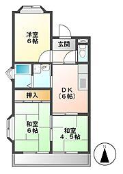 FRハイツ B棟[3階]の間取り