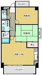サンセーヌ百道[2階]の間取り