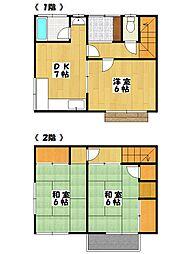 [テラスハウス] 千葉県船橋市東中山1丁目 の賃貸【/】の間取り